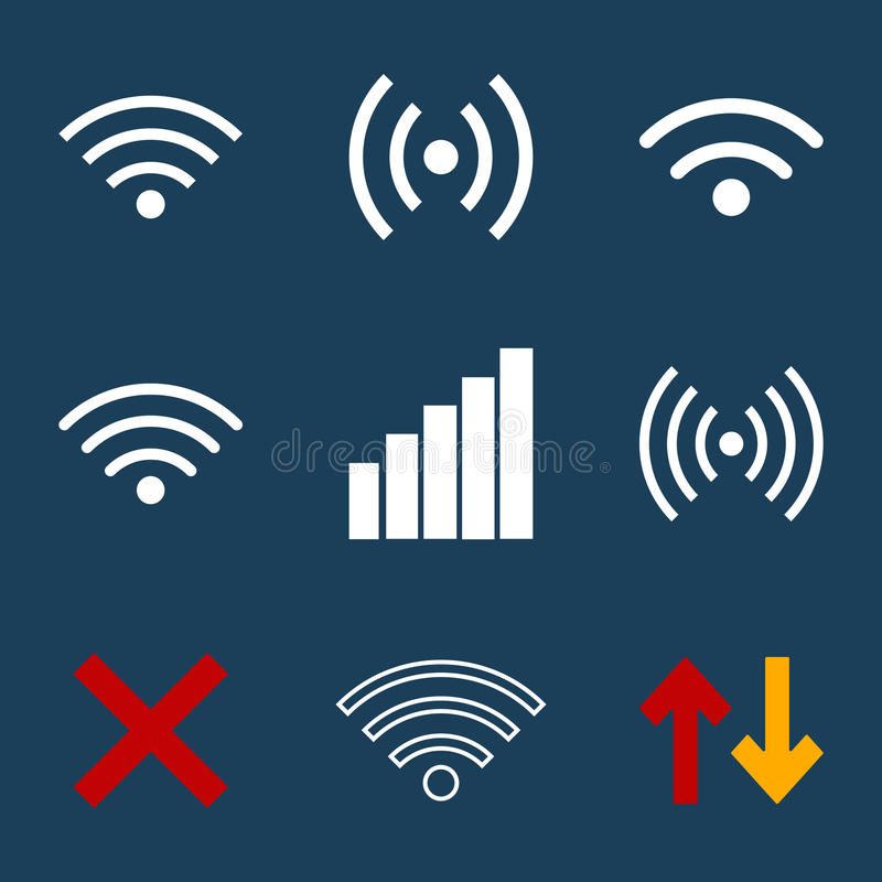 Wifi flat3 royalty free stock photos