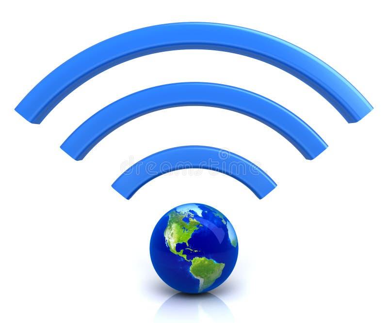 Wifi global ilustração stock