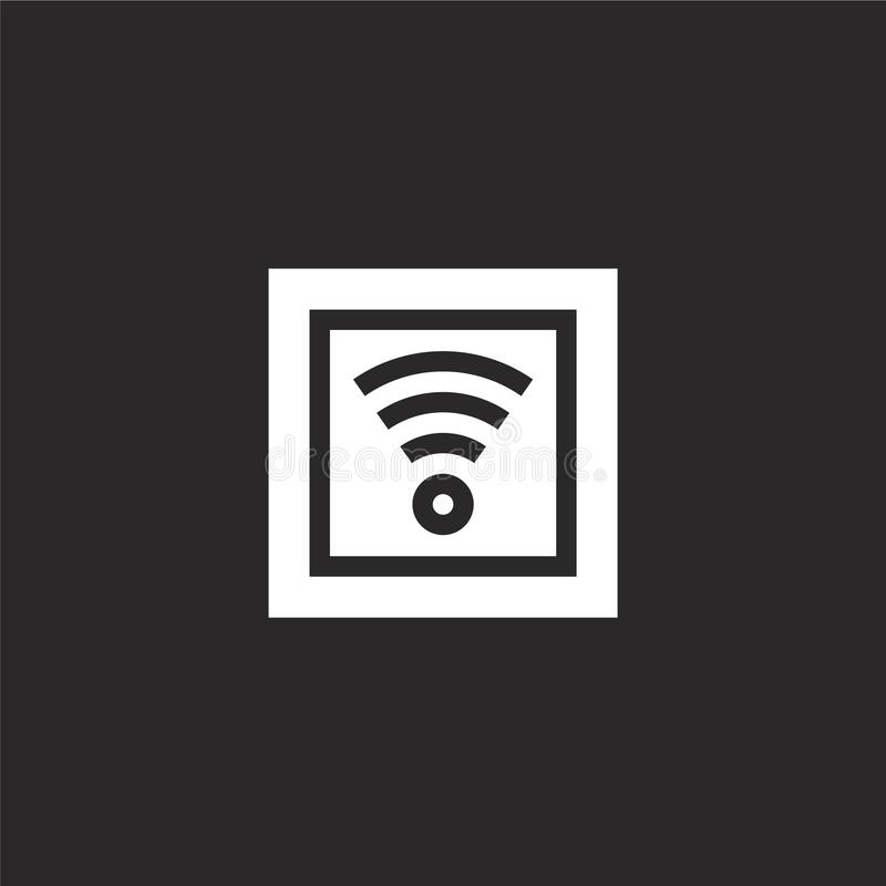 Wifi icon. Filled wifi icon for website design and mobile, app development. wifi icon from filled city life collection isolated on. Black background vector illustration