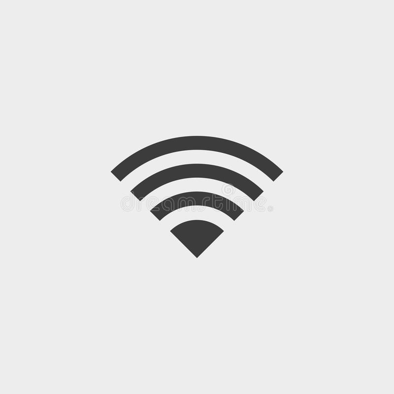 WiFi icon in a flat design in black color. Vector illustration eps10 vector illustration