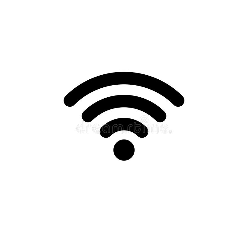 WIFI Icon in flat style. Wireless symbol vector illustration