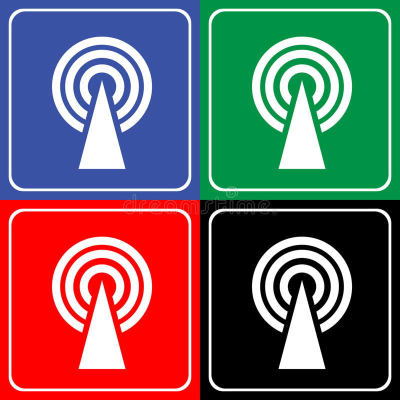 Wifi icon great for any use. Vector EPS10. stock illustration