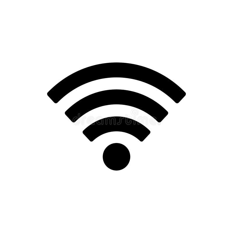 Wifi icon. Isolated on white royalty free illustration