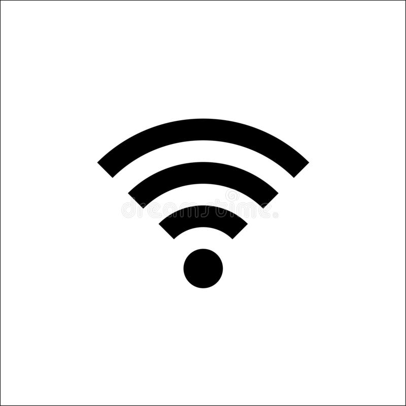 Wifi Icon in trendy flat style isolated on white background. Wireless network symbol for your web site design, logo, app, UI. Vector illustration vector vector illustration