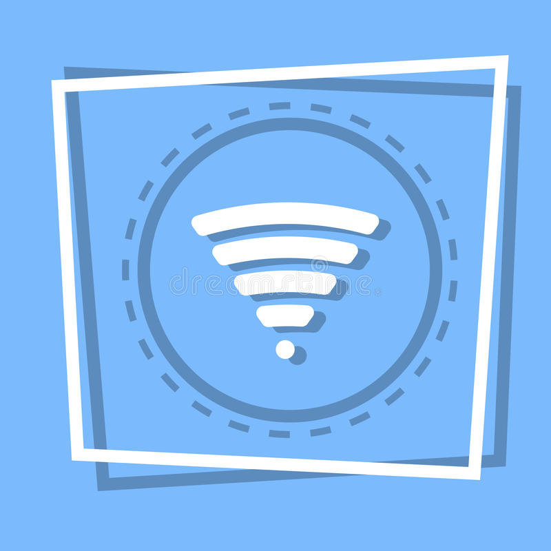 Wifi Icon Wireless Internet Connection Web Button vector illustration