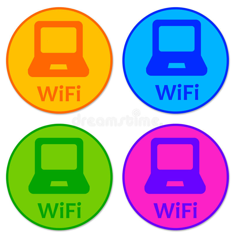 Download Wifi icons stock illustration. Illustration of mobile - 23158484