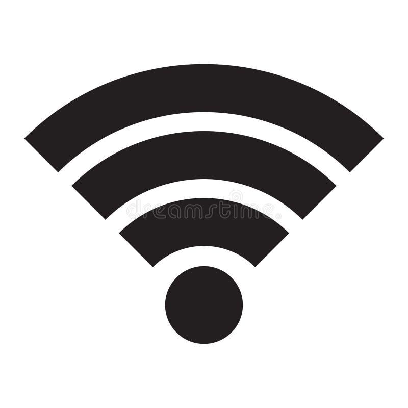Wifi ikona Emblemat bezprzewodowy połączenie z internetem ilustracja wektor
