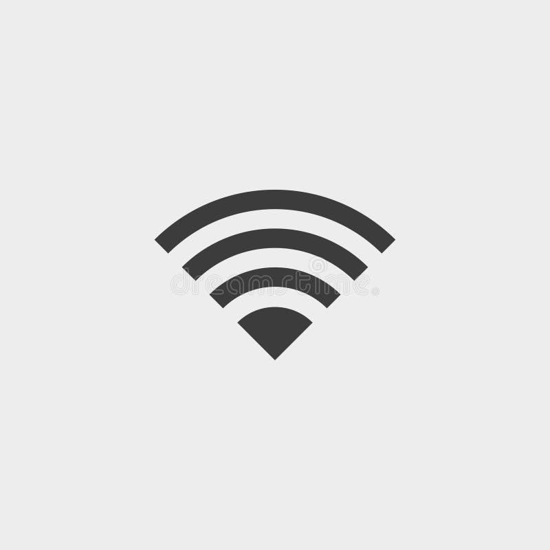 WIFI ikona w płaskim projekcie w czarnym kolorze Wektorowa ilustracja EPS10 ilustracja wektor