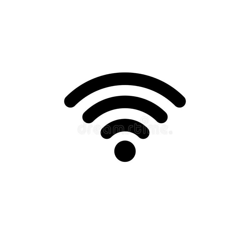 Wifi-Ikone in der flachen Art Drahtloses Symbol vektor abbildung