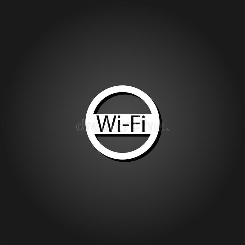 Wifi-Ikone flach vektor abbildung