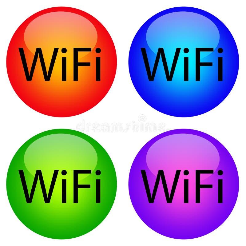 Wifi Ikonen lizenzfreie abbildung