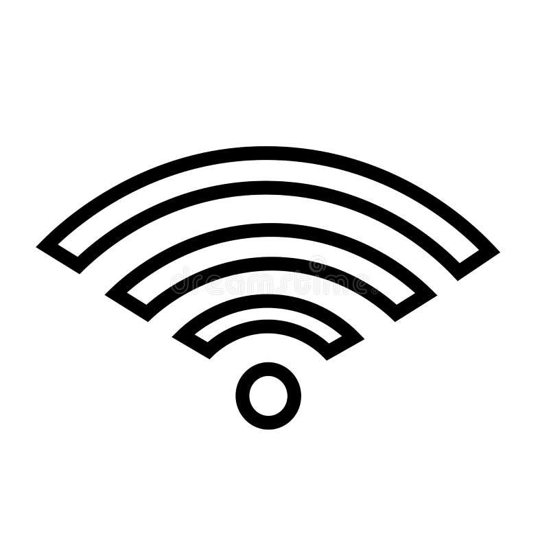 Wifi ikony wektor royalty ilustracja