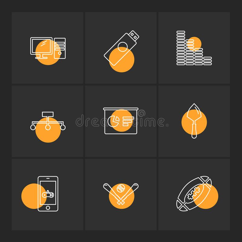 Wifi , internet , connectivity , pie chart , network , eps icons. Wifi , internet , connectivity , pie chart , network , coins , graph , infrared , icon, vector royalty free illustration