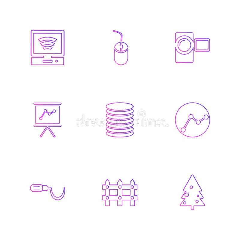 Wifi , internet , connectivity , pie chart , network , eps icons. Wifi , internet , connectivity , pie chart , network , coins , graph , infrared , icon, vector stock illustration