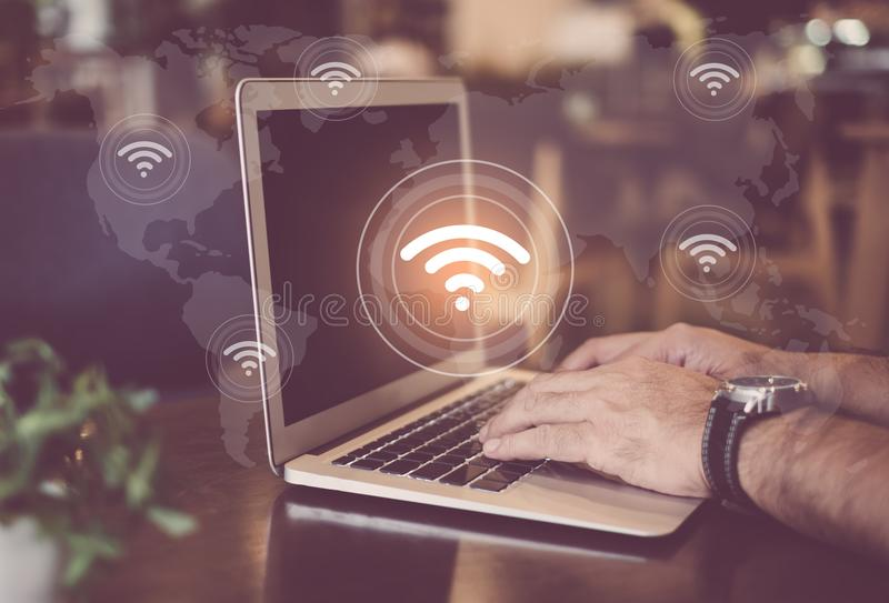 Wifi internet network stock photography