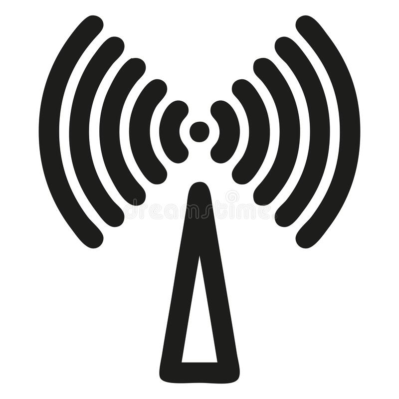 Wifi Internet related picture image Signals and wireless facilities. Icon and symbol for internet vector illustration