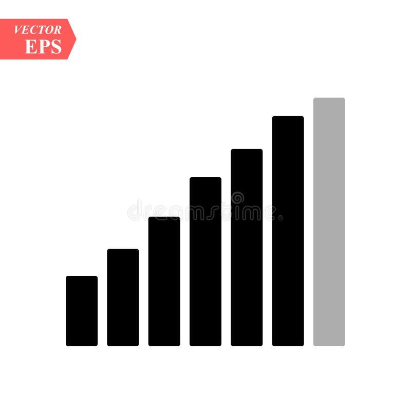 Wifi-Internet-Zeichenikone in der flachen Art Illustration drahtloser Technologie Wi-Fi auf weißem lokalisiertem Hintergrund Netz lizenzfreie abbildung