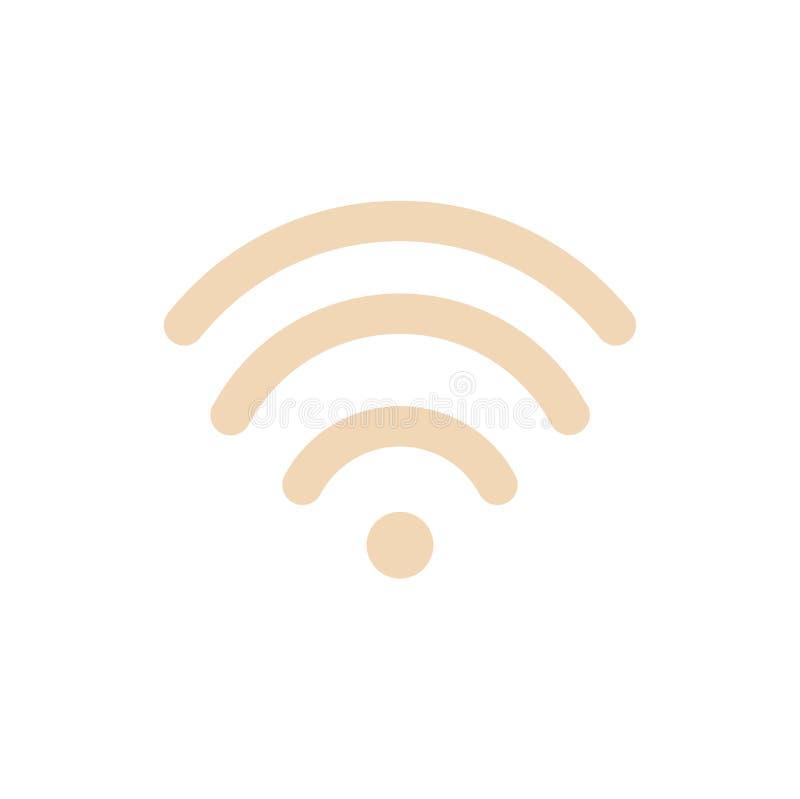 Wifi interneta sygnału symbolu wektoru bezprzewodowa ilustracja ilustracja wektor