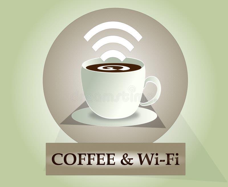 Wifi kaffesymbol royaltyfria foton