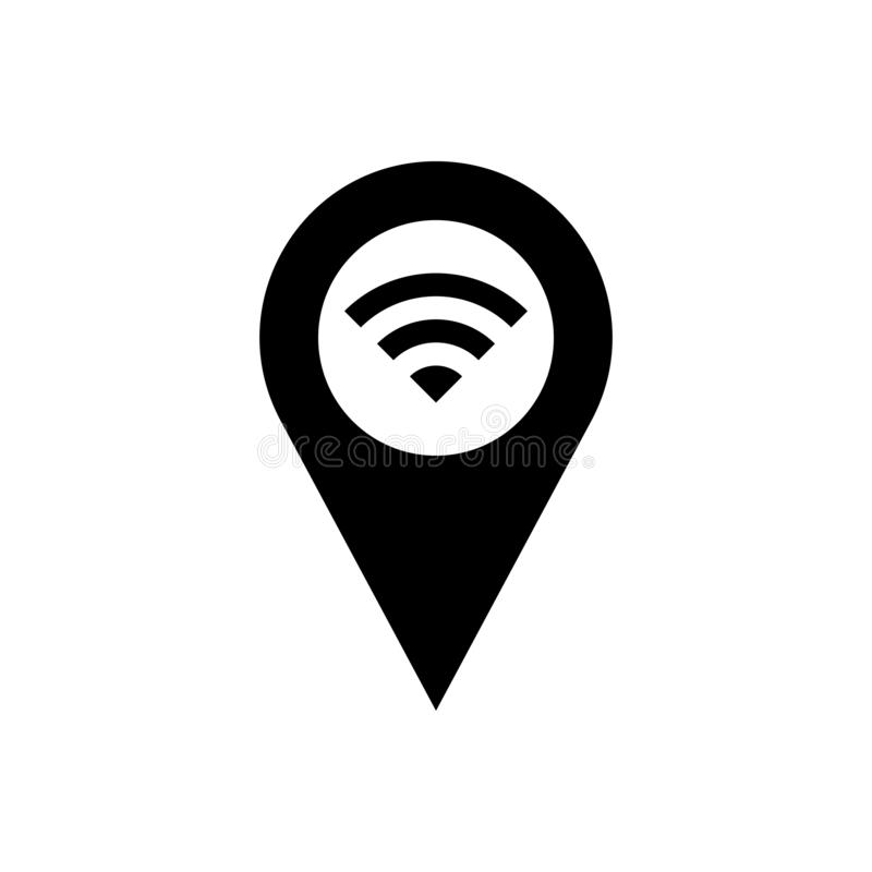 WiFi location icon, wireless local area networking vector. Illustration vector illustration