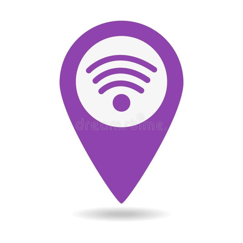 Wifi mapy podłączeniowy pointer royalty ilustracja