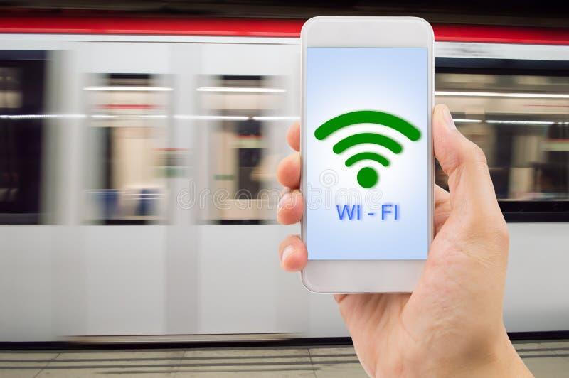 Wifi på gångtunnelen royaltyfri fotografi