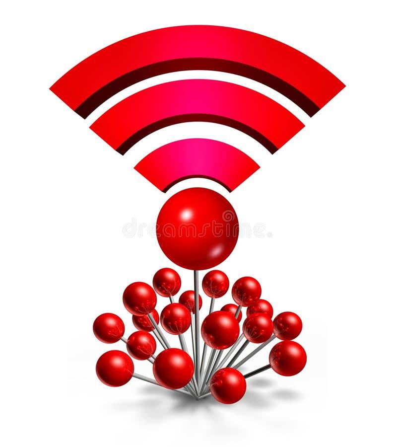 Wifi radia lokacja royalty ilustracja