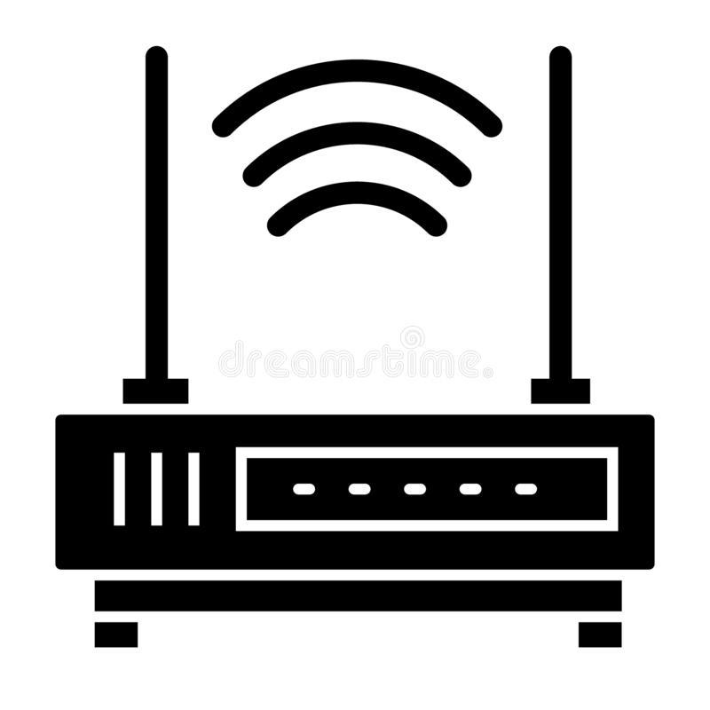 Wifi router solid icon. Communication vector illustration isolated on white. Internet glyph style design, designed for vector illustration