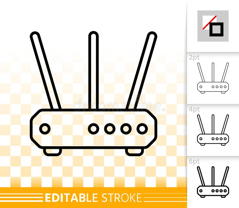 Wifi Router simple black line vector icon vector illustration