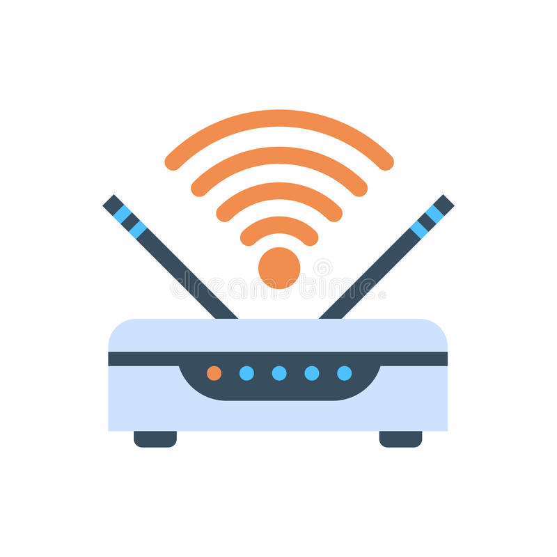 Wifi Router Wireless Internet Connection Icon. Vector Illustration vector illustration