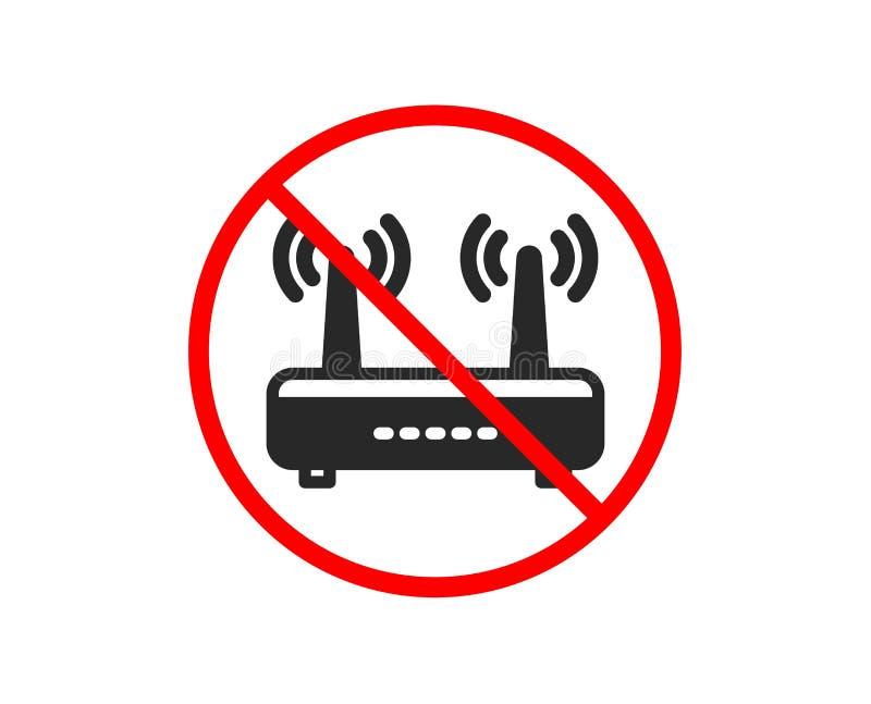 Wifi routera ikona Komputerowego sk?adnika znak Internetowy symbol wektor royalty ilustracja