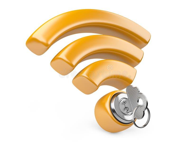 WiFi säkerhetsbegrepp vektor illustrationer