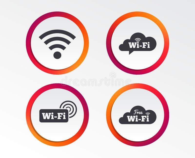 Wifi sieci bezprzewodowej ikony Fi mowy bąbel royalty ilustracja