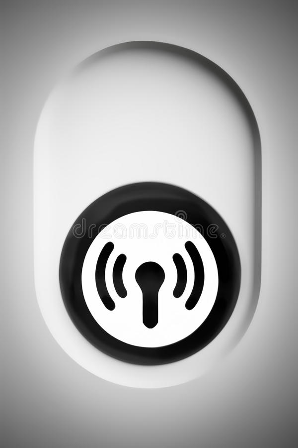 Wifi sign and button close up