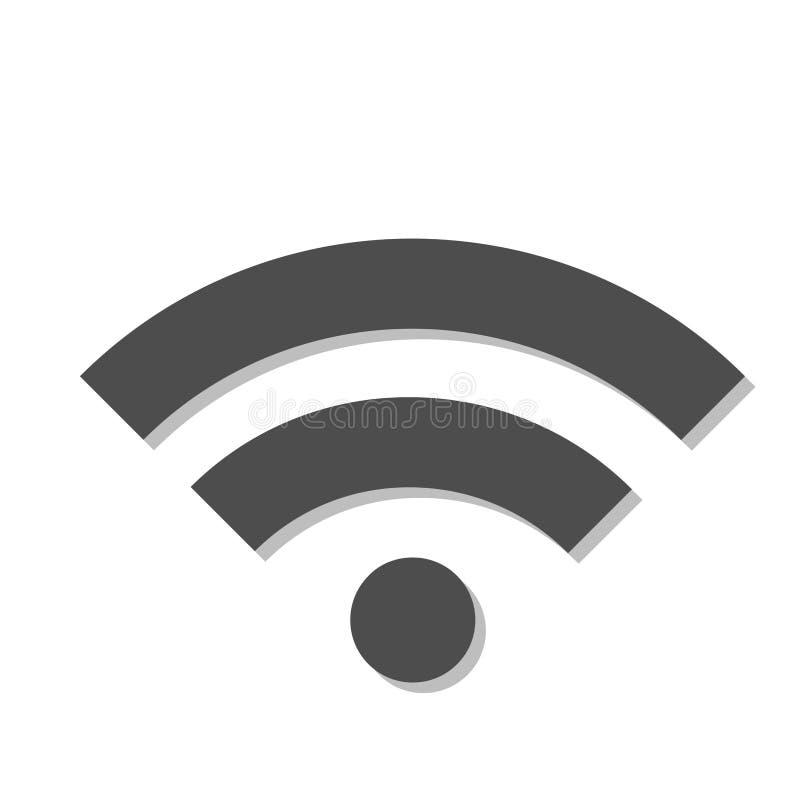 WiFi-signaalpictogram op een witte achtergrond vector illustratie