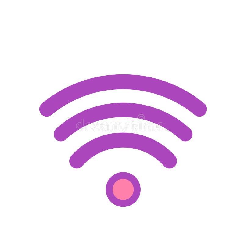 Wifi-Signalikonenvektorzeichen und -symbol lokalisiert auf weißem backgr stock abbildung