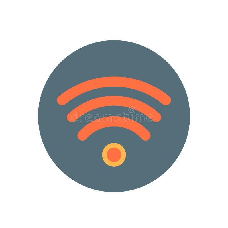 Wifi-Signalikonenvektorzeichen und -symbol lokalisiert auf weißem backgr vektor abbildung
