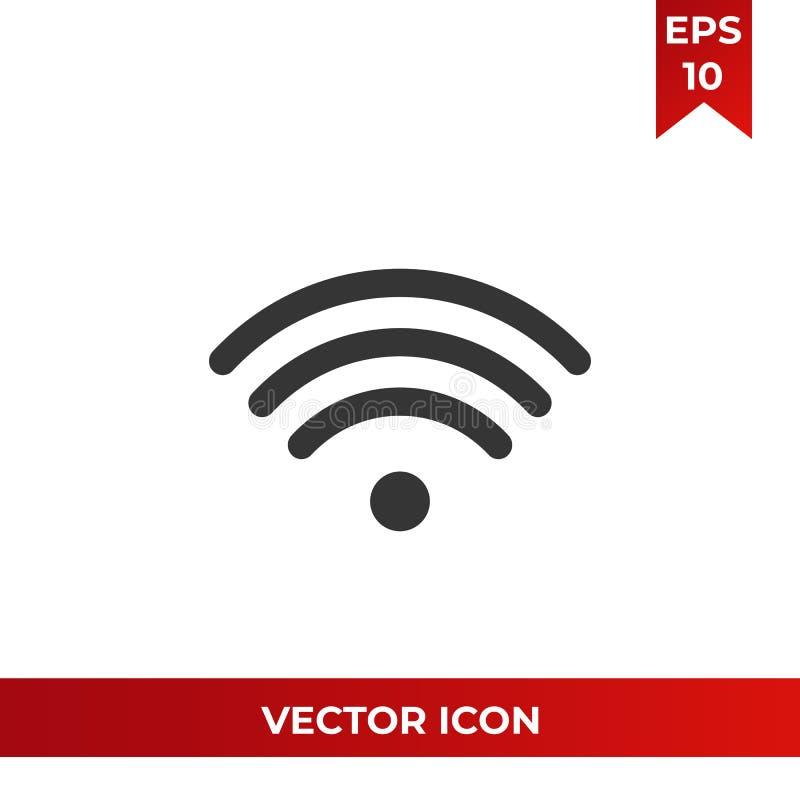 Wifi signalsymbol, trådlöst symbol Internetpictogram, plant vektortecken som isoleras på vit bakgrund enkel vektor stock illustrationer