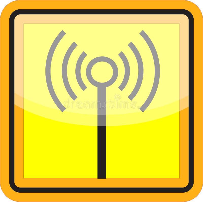 Wifi signent dedans le jaune et le noir illustration libre de droits