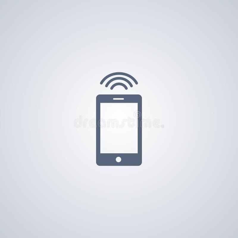 WiFi-smartfone, slim signaal, vector beste vlak pictogram vector illustratie
