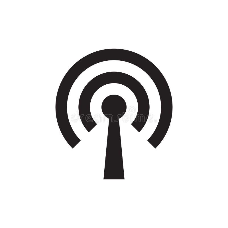 Wifi - svart symbol på den vita bakgrundsvektorillustrationen för websiten, mobil applikation, presentation som är infographic _ vektor illustrationer
