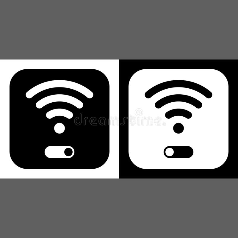 WiFi symbol icon, wireless local area networking vector. Illustration vector illustration