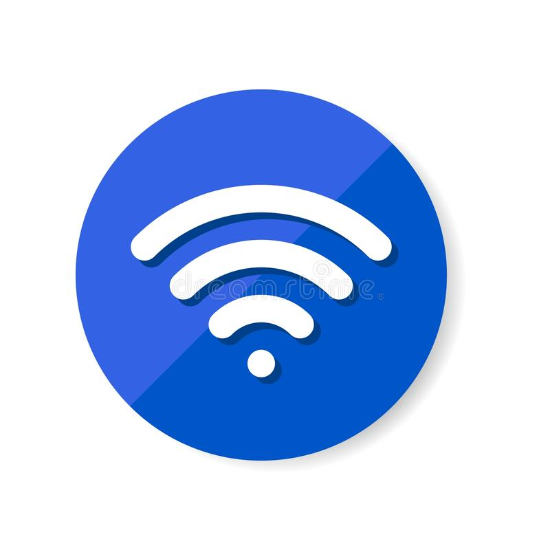 WiFi symbol icon, wireless local area networking vector. Illustration stock illustration