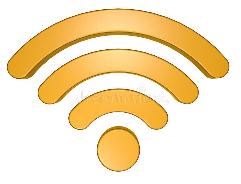 Wifi symbol na białym tle royalty ilustracja