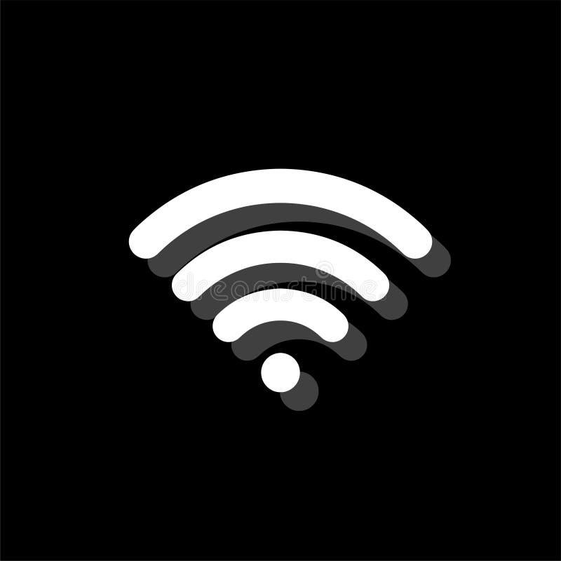 Wifi symbolslägenhet vektor illustrationer