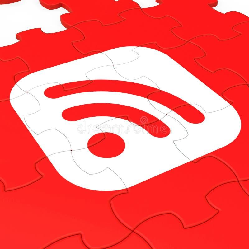 Wifi symbolu łamigłówka Pokazuje Internetowego dostęp ilustracji