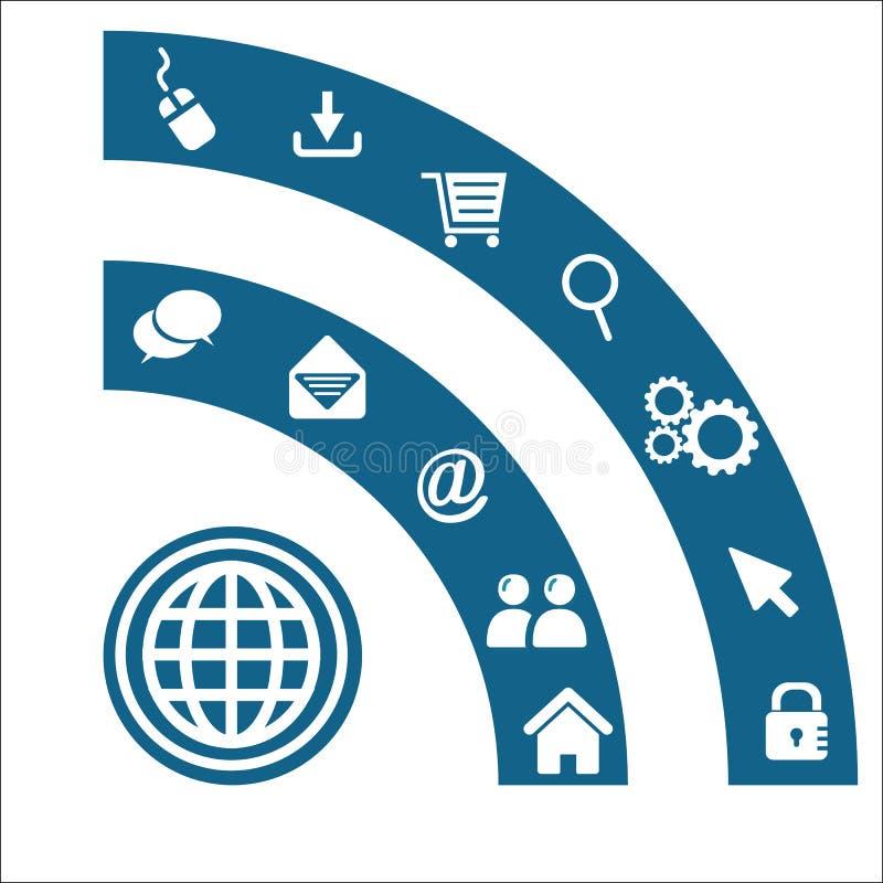 Wifi symbolu tła wektor ilustracja wektor