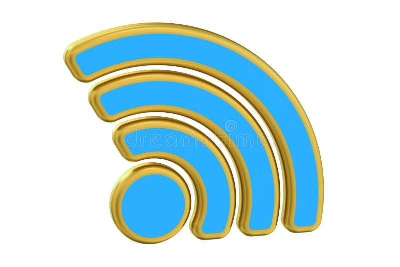 WiFi-symbool, het 3D teruggeven royalty-vrije illustratie