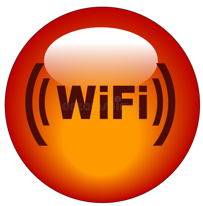 Wifi Taste oder Ikone stock abbildung