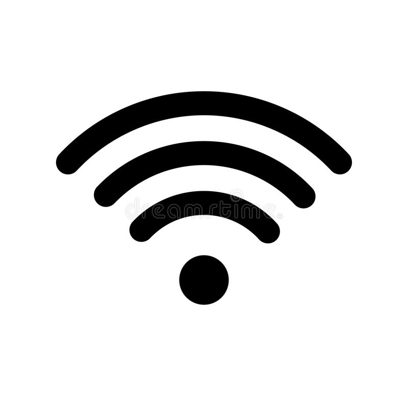 Wifi technology symbol. Wireless and wifi icon. Sign for remote internet access. Podcast vector symbol. Simple vector vector illustration